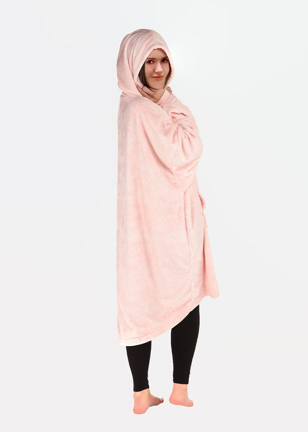 Blanket with Sleeves Women Oversized Hoodie Fleece Warm Hood