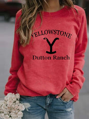 Yellowstone Tv Show Long Sleeve Pullover