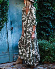 Casual Loose Print Maxi Dress