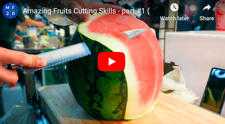 Amazing fruit cutting skills