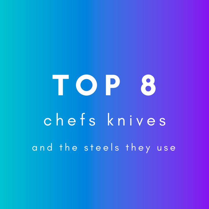 Top 8 steels for Chefs Knives?