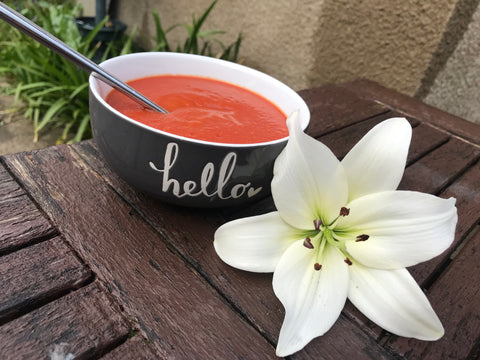 Build your vegtarian food hamper create gifts tomato soup