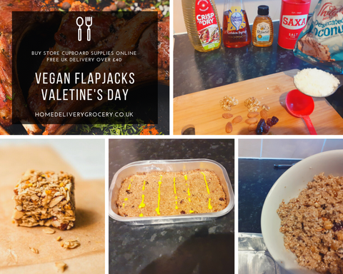 Store Cupboard Supplies Pantry Ingredients UK Gluten Free Dairy Vegan Oat Flapjacks Vegetarian Nuts Honey Recipe