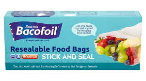 Bacofoil 50 Stick and Seal Resealable Food Bags Medium