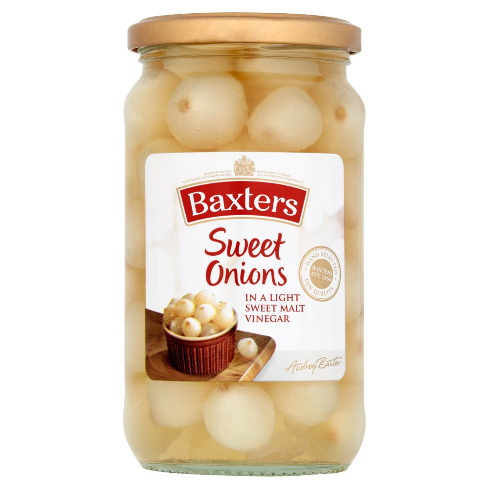Baxters Sweet Onions in a Light Sweet Malt Vinegar 440g