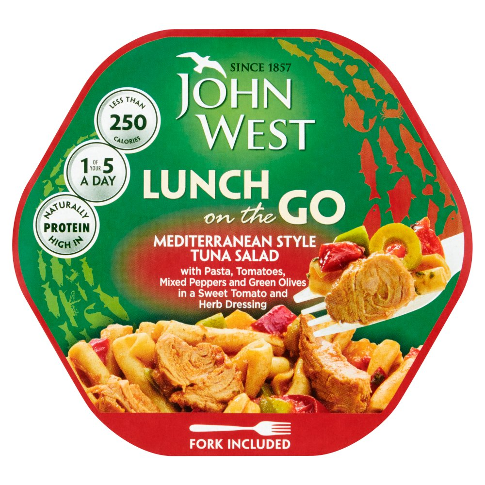 John West Lunch on the Go Mediterranean Style Tuna Salad 220g
