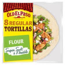 Old El Paso 8 Regular Super Soft Flour Tortillas 326g