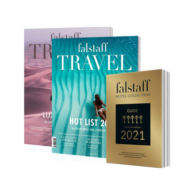 2 x FALSTAFF TRAVEL MAGAZIN & FALSTAFF HOTEL GUIDE (4676161830957)