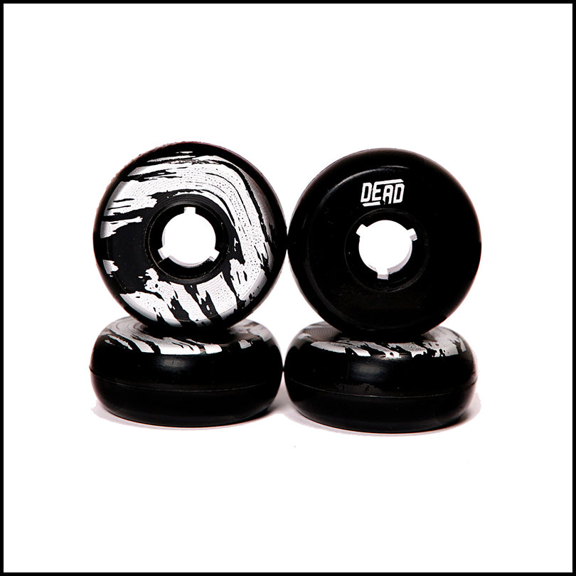 Dead Wheels Black / Silver<br> 58mm / 95a (4)