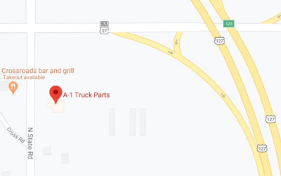 A1 Truck Parts Store Location Map