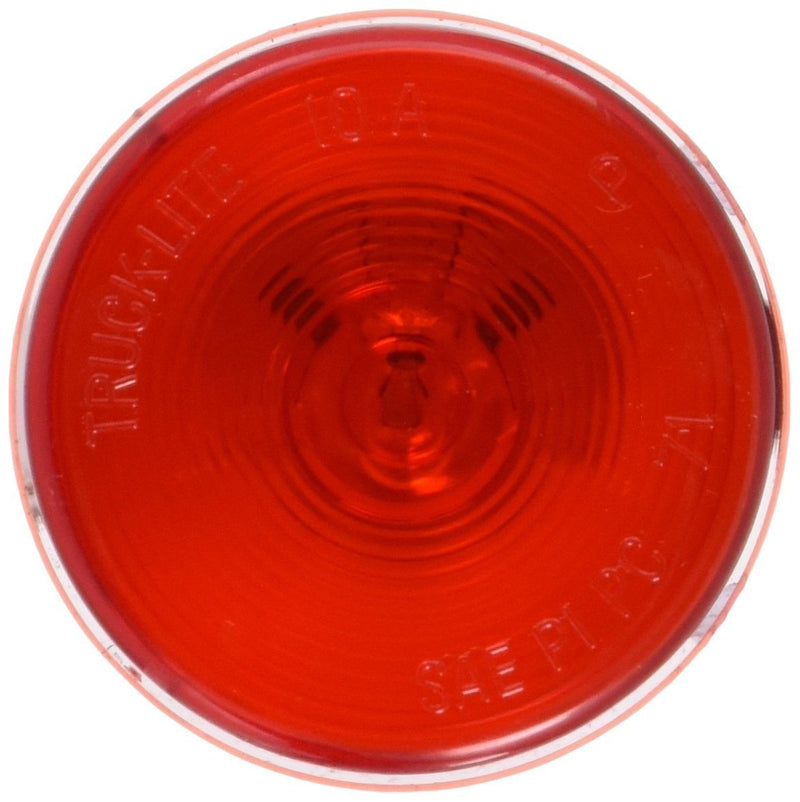 "10 Series Incadescent Red 2.5"" Round Marker Clearance Light, PL-10 Connection & Grommet Mount 