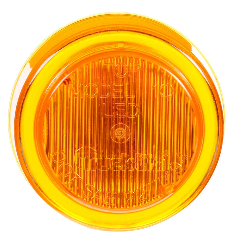 "10 Series Yellow LED 2.5"" Round Marker Clearance Light, Fit 'N Forget Connection 