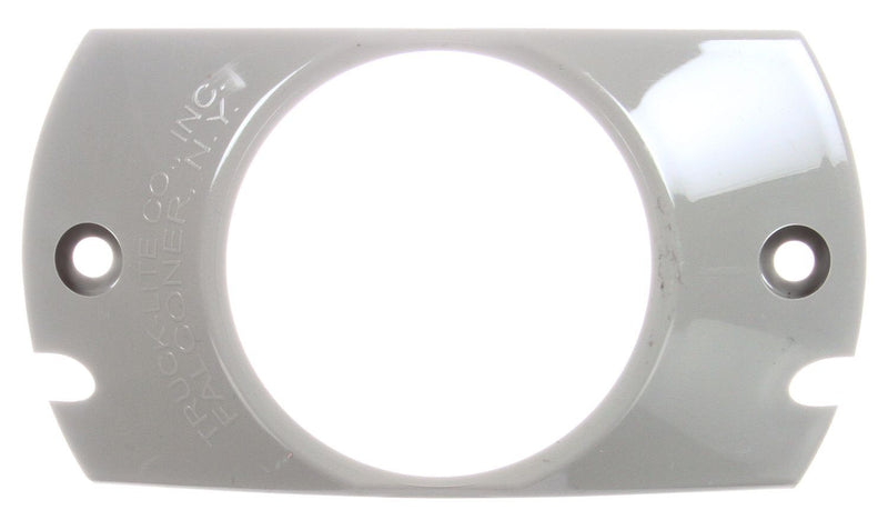 "10 Series Gray Polycarbonate 2 Screw Deflector Bracket Mount for 2.5"" Round Lights 
