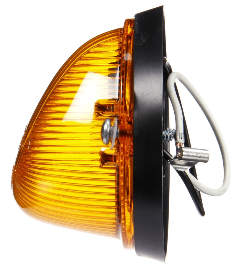 Signal-Stat Amber Incandescent Triangular Marker Clearance Light, Hardwired & 2 Screw Mount | Truck-Lite 1313A