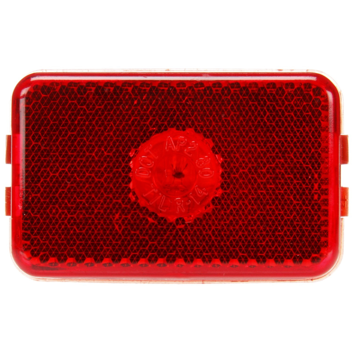 "14 Series Incandescent 2""x3"" Red Rectangular Marker Clearance Light, PL-10 & Grommet Mount 
