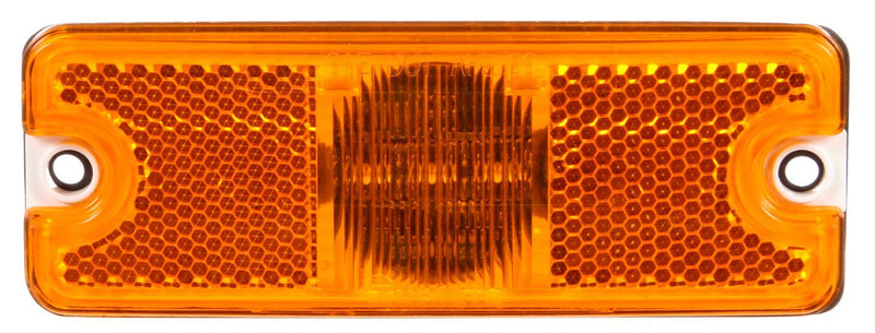 "18 Series Yellow LED 2""x5"" Rectangular Marker Clearance Light, Hardwired & 2 Screw Mount 