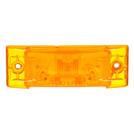 Super 21 Yellow Incandescent Rectangular Marker Clearance Light, Super 21 Plug & 2 Screw Mount | Truck-Lite 21200Y