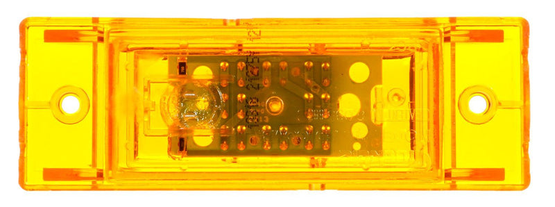 21 Series Yellow LED Rectangular Marker Clerance Light, Fit 'N Forget M/C & 2 Screw Mount | Truck-Lite 21275Y
