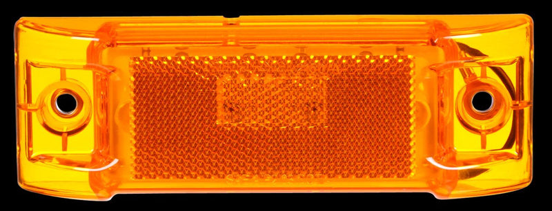 "Signal-Stat Yellow LED 2""x6"" Rectangular Marker Clearance Light, Hardwired & 2 Screw Mount 