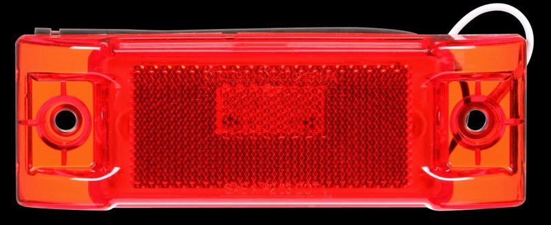 "Signal-Stat Red LED 2""x6"" Rectangular Marker Clearance Light, Hardwired & 2 Screw Mount 