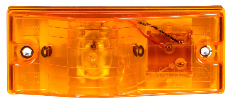 22 Series Yellow Incandescent Rectangular Side Turn Signal, PL-3 & 2 Screw Mount | Truck-Lite 22202Y