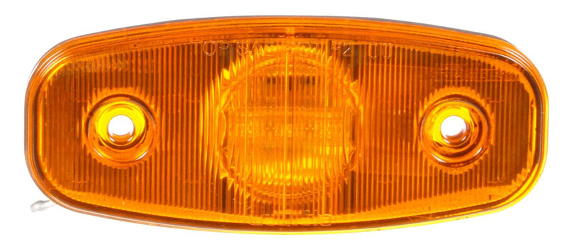 "26 Series Yellow LED 2""x5"" Rectangular Marker Clearance Light, Hardwired & 2 Screw Mount 