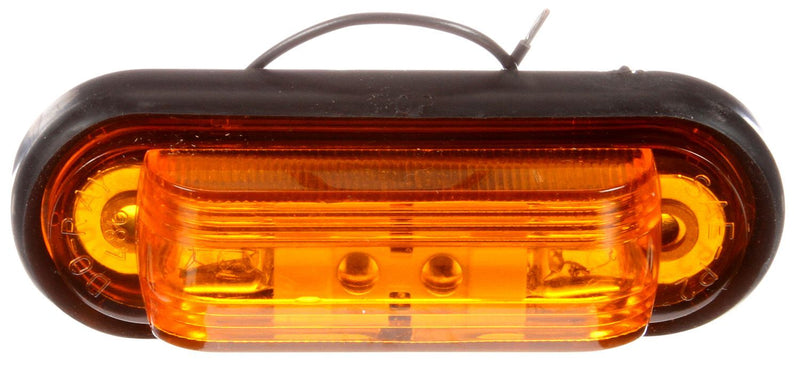 "23 Series Yellow Incandescent 1""x4"" Oval Marker Clearance Light, Hardwired w/ 2 Screw Mount 