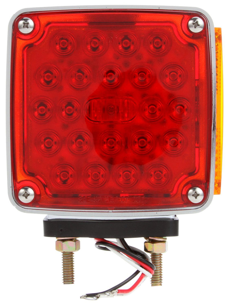 Signal-Stat Red/Yellow LED Dual Face Pedestal Light, 2 Stud & 3 Wire | Truck-Lite 2758