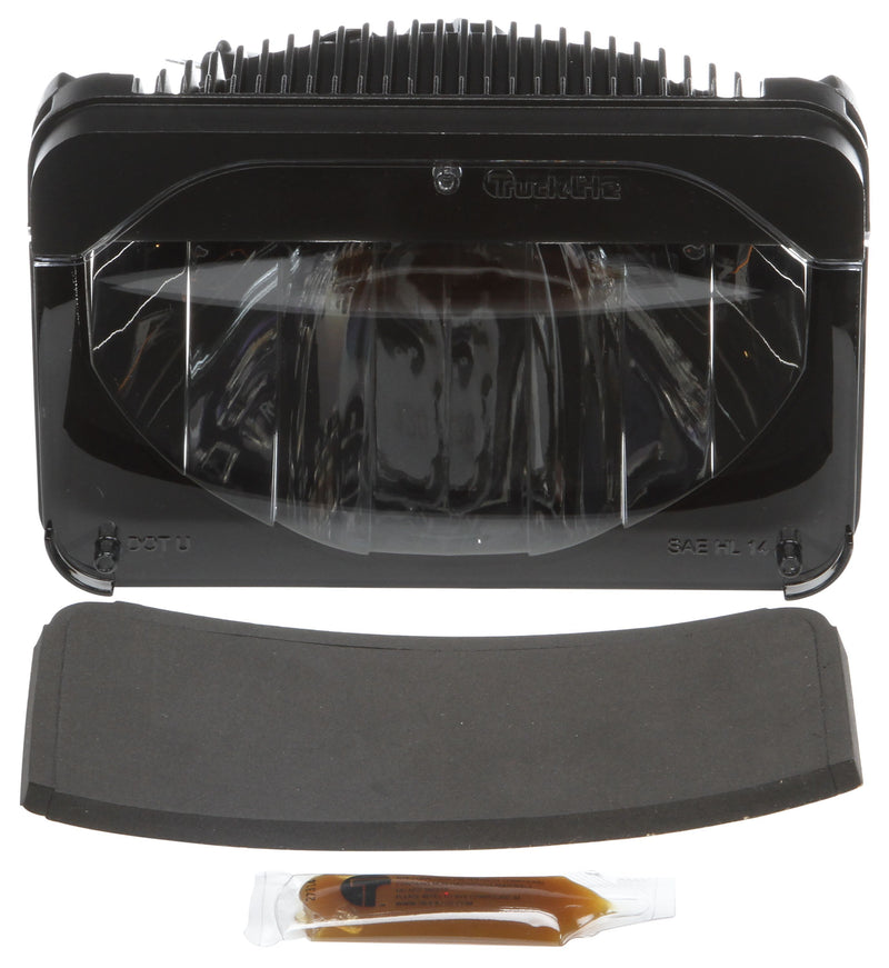 "4""x6"" Rectangular High Beam LED Headlight, Hardwired 