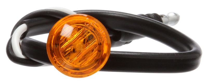 "33 Series Yellow LED .75"" Round Marker Clearance Light, Hardwired & Grommet Mount 