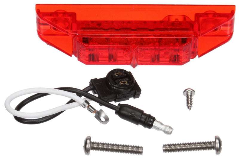 "35 Series Red LED 1""x4"" Marker Clearance Light, Fit 'N Forget M/C & 2 Screw Mount 