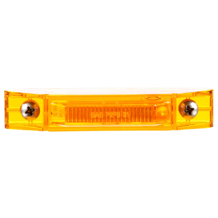 "35 Series Yellow 1"" X 4"" Rectangular Marker Clearance Light, Fit 'N Forget M/C & 2 Screw Mount 