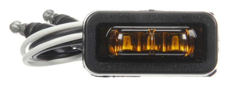 36 Series Flex-Lite Yellow LED Rectangular Marker Clearance Light, Hardwired & Adhesive Mount | Truck-Lite 36115Y