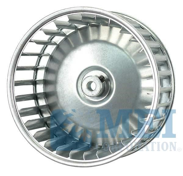"5-3/16"" Aluminum Blower Wheel for Red Dot Unit Applications, Hub Insert: 7/8"" 