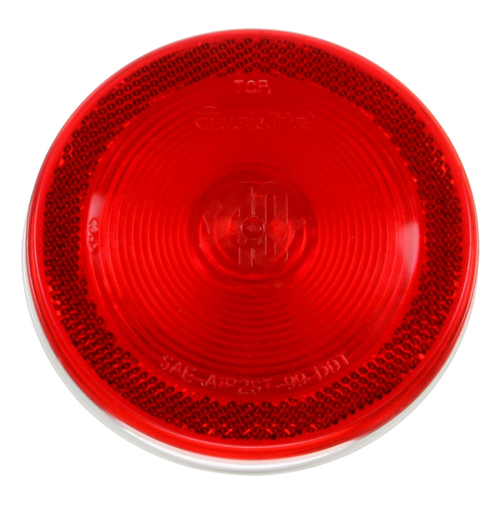 "Super 40 Incandescent Red 4"" Round Stop/Turn/Tail Light, PL-3 Connection & Grommet Mount 