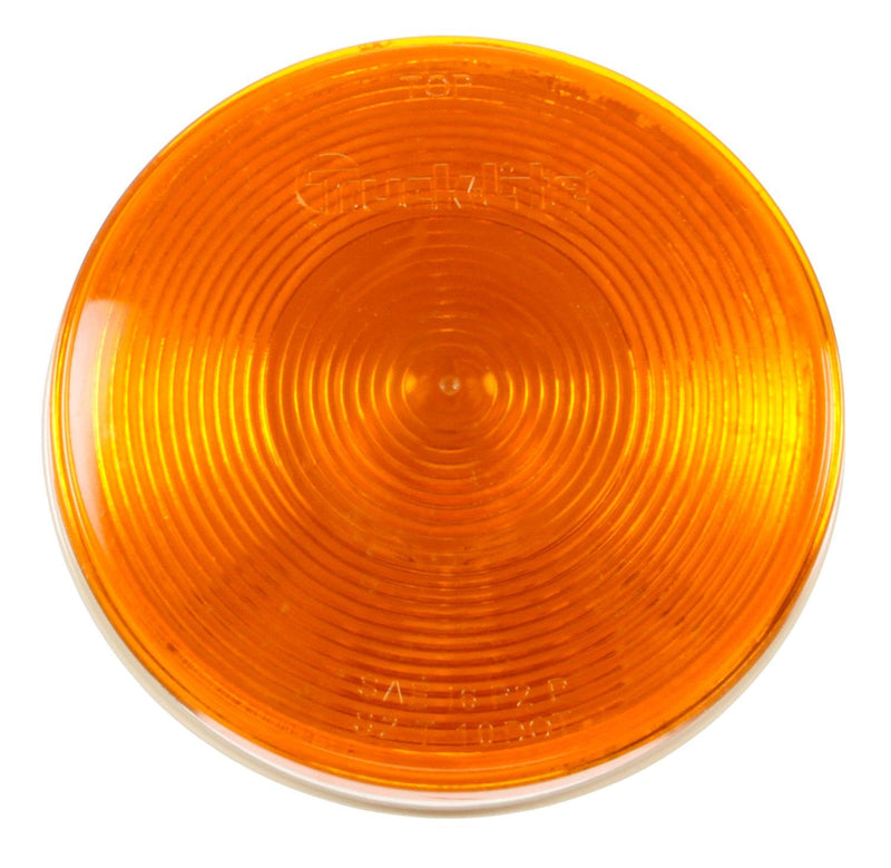 "40 Economy Yellow Incandescent 4"" Round Front/Park/Turn Light, PL-3 & Grommet Mount 