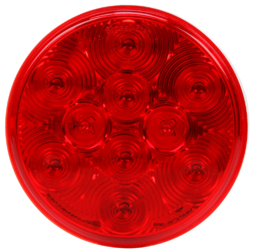 "Signal-Stat 4"" Round Red LED Stop/Turn/Tail Light, PL-3 & Grommet Mount 