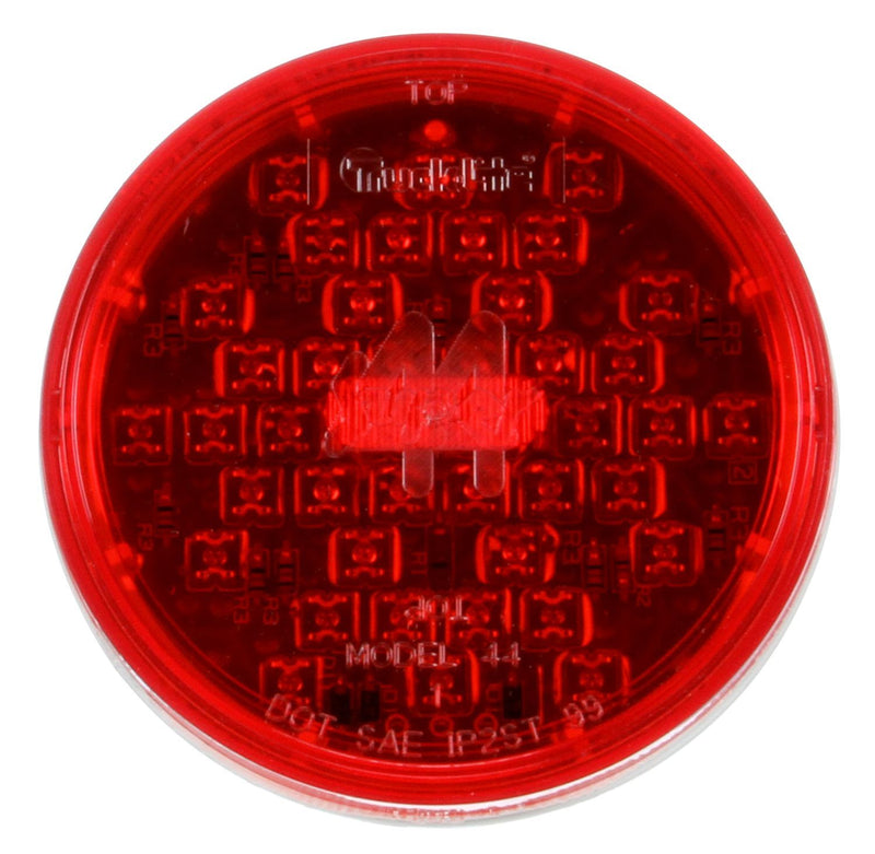 "Super 44 Red LED 4"" Round Stop/Turn/Tail Light, Fit 'N Forget Connection 