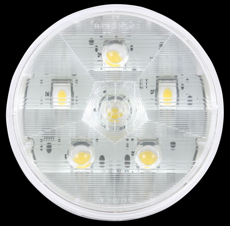 "Super 44 Clear LED 4"" Round Back-Up Light, Fit 'N Forget S.S., Fit 'N Forget S.S. & Grommet Mount 