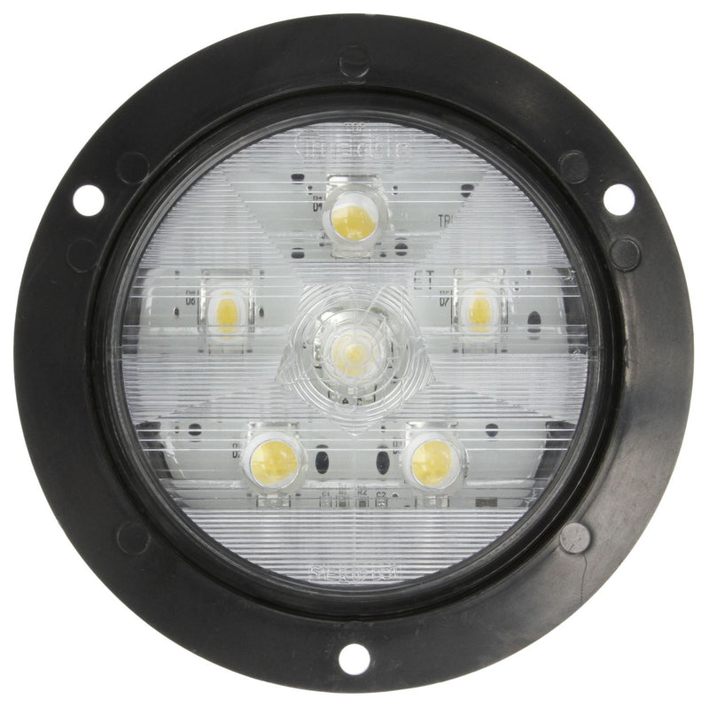 "Super 44 Clear LED 4"" Round Back-Up Light, Fit 'N Forget S.S., Fit 'N Forget S.S. & Flange Mount 