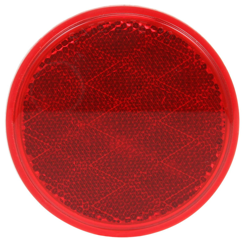 "Signal-Stat 3"" Round Red Reflector, Adhesive Mount 