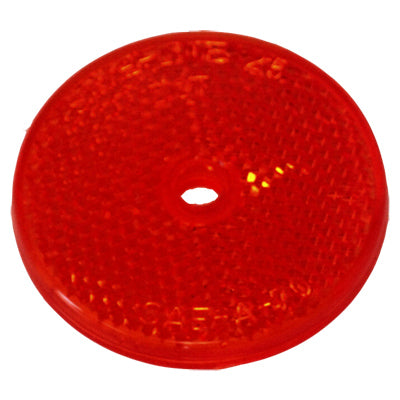 "Signal-Stat 2"" Round Yellow Reflector, 1 Screw/Nail/Rivet 