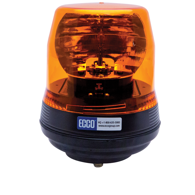 Low Profile Amber Rotating LED Beacon Light, 1 Bolt Mount | ECCO 5816A