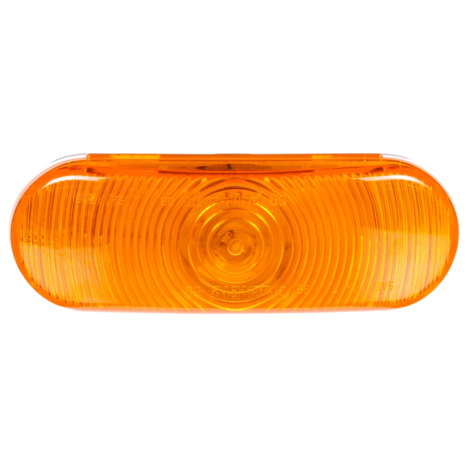 "Super 60 Incandescent Yellow 2"" X 6"" Oval Front/Park/Turn Light, PL-3 Connection & Grommet Mount 