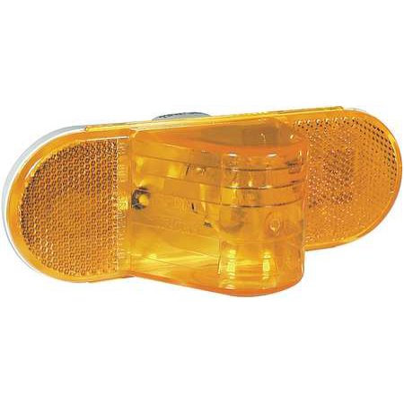 "60 Series Incandescent Yellow 2"" X 6"" Oval Side Turn Signal, PL-3 Connection & Horizontal Grommet Mount 