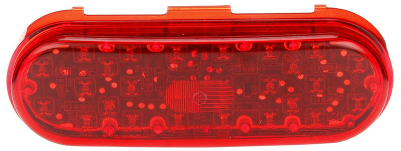 "60 Series Red LED 6"" Oval High Mounted Stop Light, Fit 'N Forget S.S. 