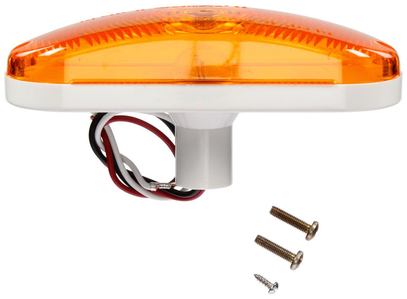 "60 Series Yellow Incandescent 6"" Oval Turn Signal Light, Hardwired & Grommet Mount 