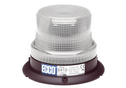 Low Intensity Clear Beacon Strobe Warning Light, 3 Bolt Mount | ECCO 6410C
