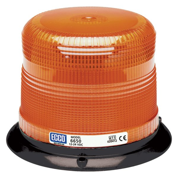 Low Profile Amber Beacon Strobe Warning Light, 3 Bolt Mount | ECCO 6650A