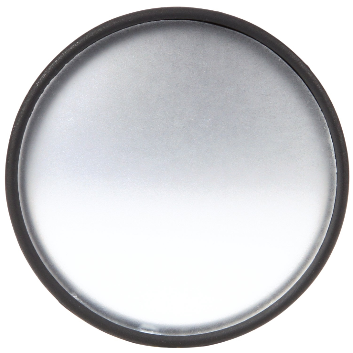 "Signal-Stat 2"" Round Black Plastic Stick-On Convex Mirror, Universal Mount 